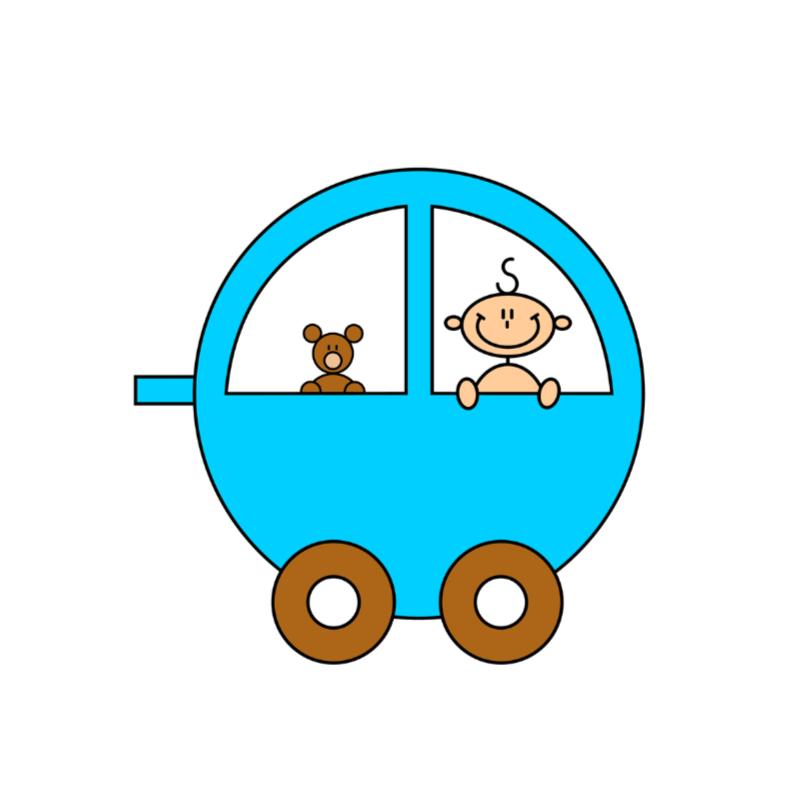 Geboortekaartjes - Jongen in auto