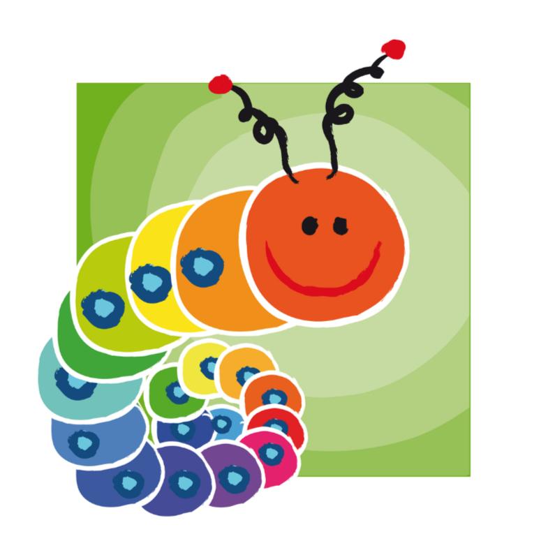 Geboortekaartjes - Kaartje met kleurige rups