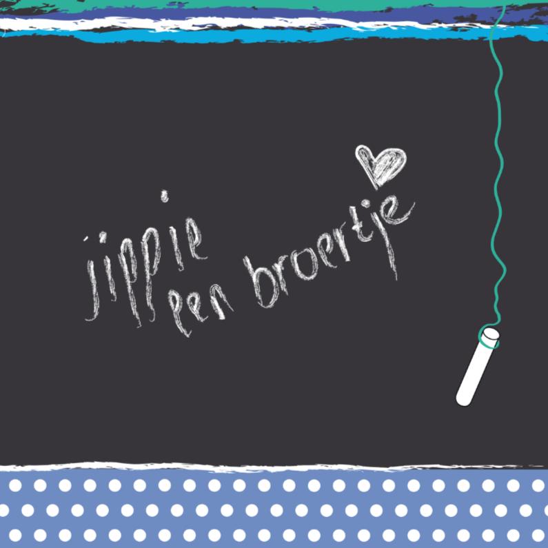 Geboortekaartjes - Kaartje met schoolbord broertje