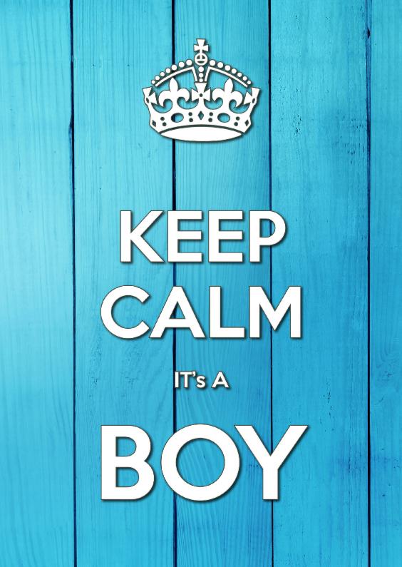 Geboortekaartjes - KEEP CALM it's A BOY