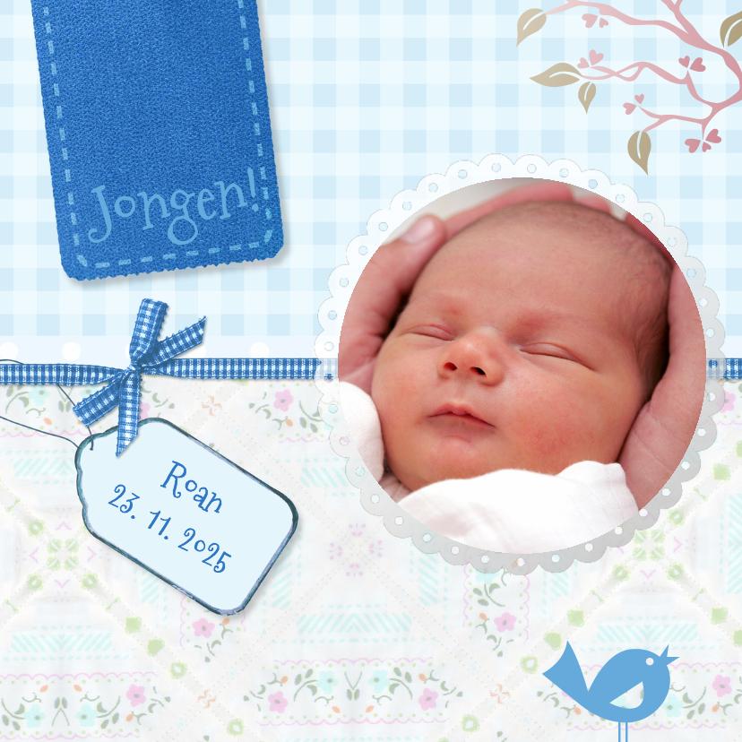 Geboortekaartjes - Kleurig blauw geboorte - BK
