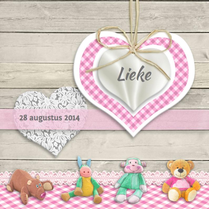 Geboortekaartjes - Knuffels voor een meisje