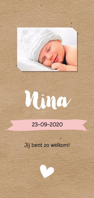 Geboortekaartjes - Kraftlook met foto