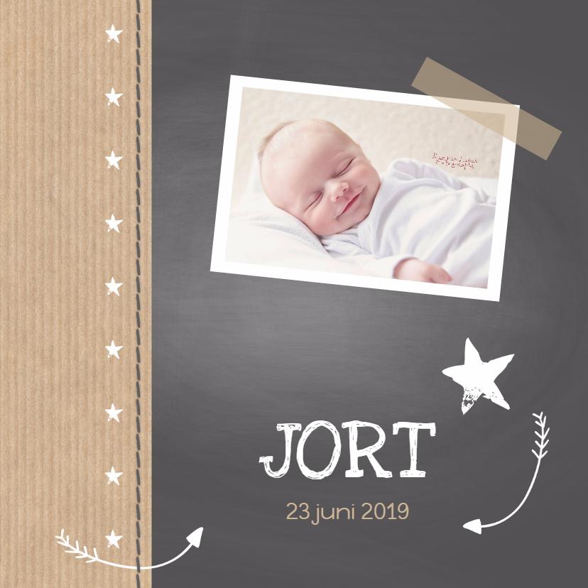 Geboortekaartjes - Krijtbord Jort