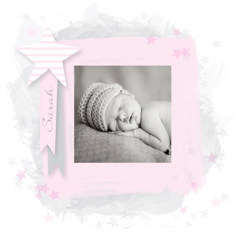 Geboortekaartjes - Lief geboortekaartje aquarel