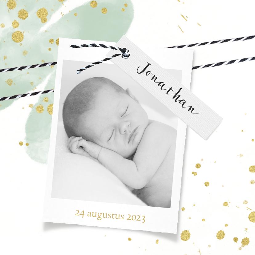 Geboortekaartjes - Lief geboortekaartje foto en label