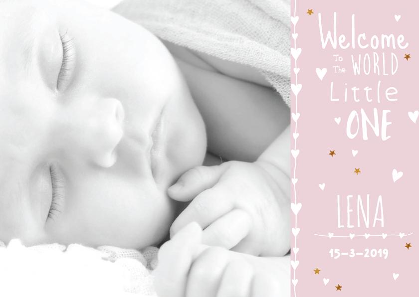 lief geboortekaartje foto Lena 1