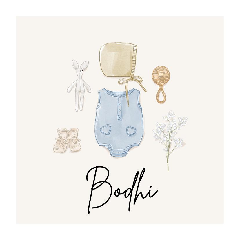 Geboortekaartjes - Lief geboortekaartje illustraties in watercolour stijl