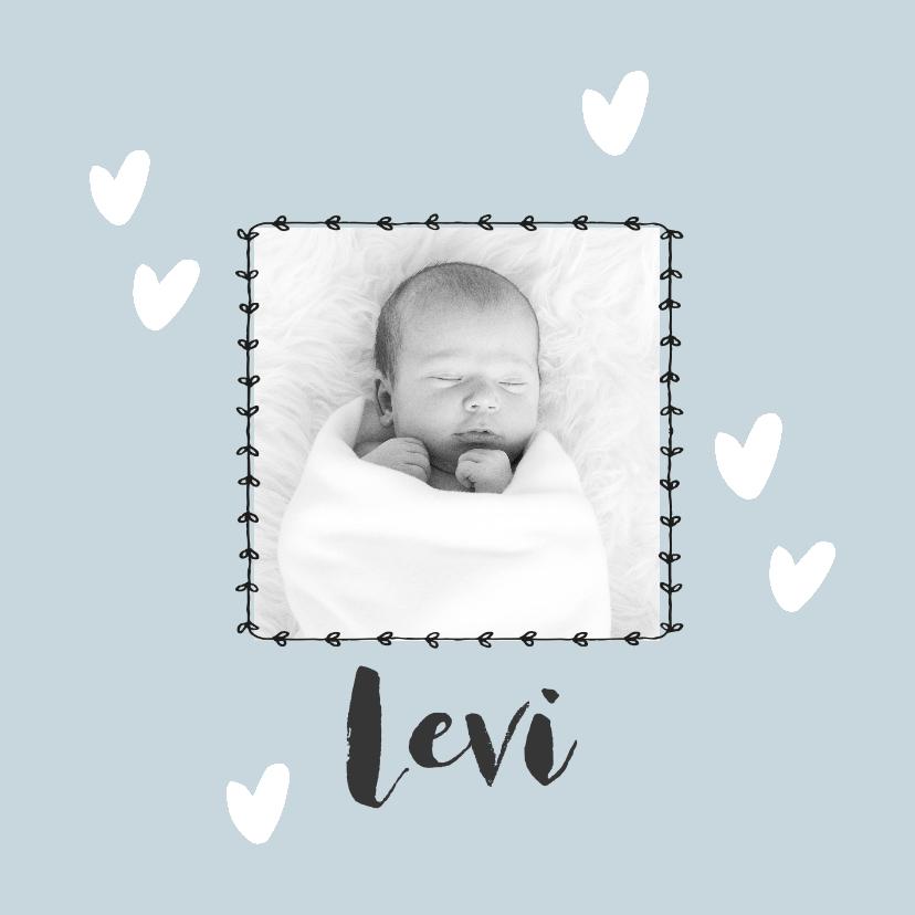 Geboortekaartjes - Lief geboortekaartje met newborn foto