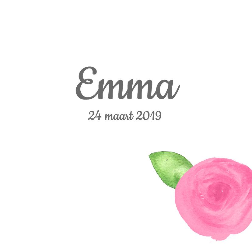 Geboortekaartjes - Lief geboortekaartje met rozen