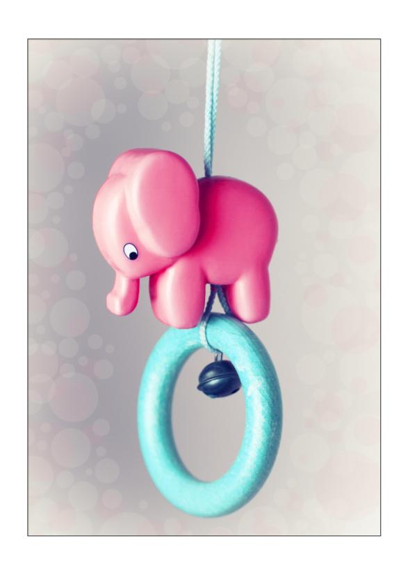 Geboortekaartjes - Lief geboortekaartje olifantje meisje