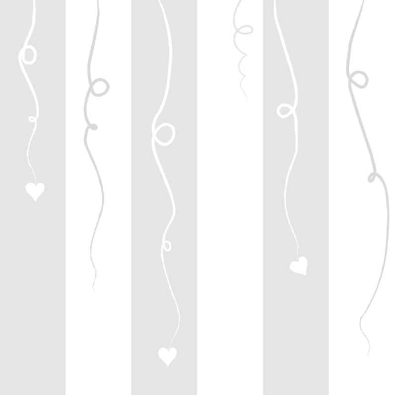 Geboortekaartjes - Lief kaartje met hartjes aan slingers