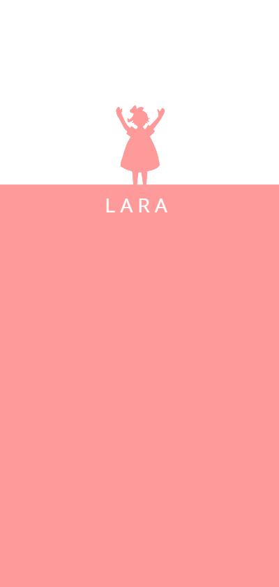 Geboortekaartjes - Lief roze geboortekaartje met silhouet meisje