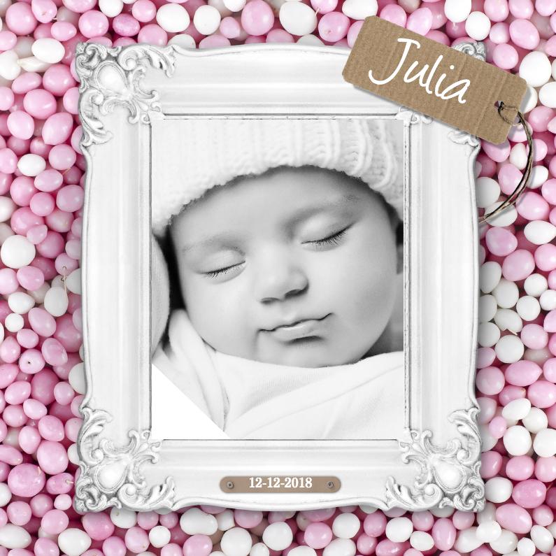 Geboortekaartjes - Lijst met muisjes - Meisje