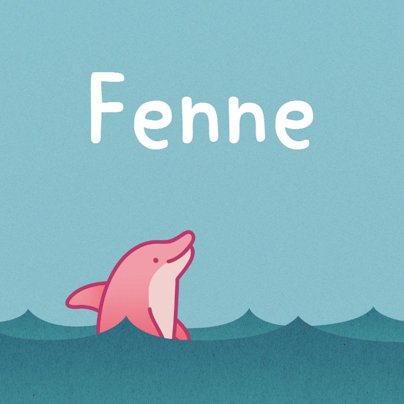 Geboortekaartjes - Meisje dolfijn