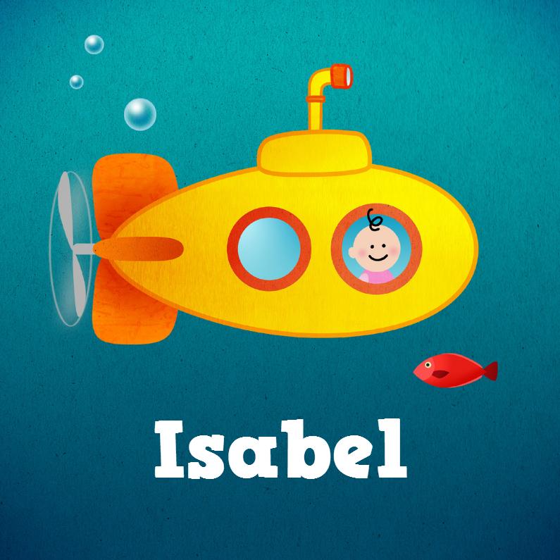 Geboortekaartjes - Meisje onderzeeboot