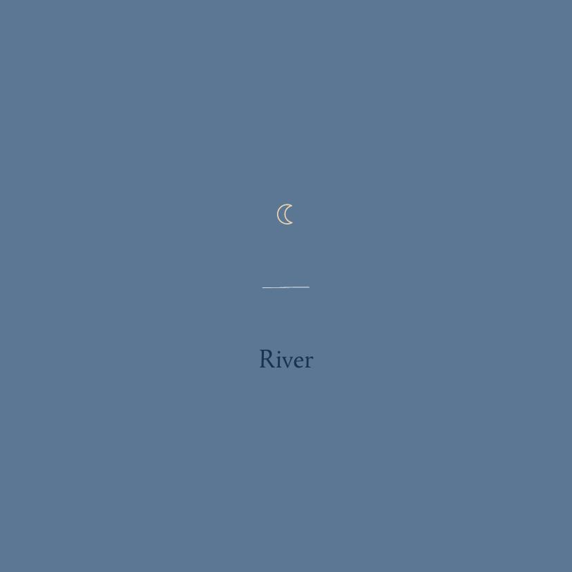 Geboortekaartjes - Minimalistisch geboortekaartje maantje blauw jongen