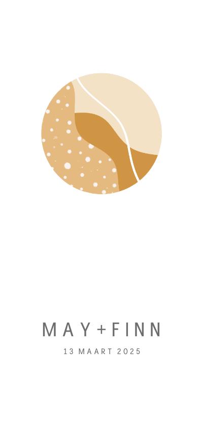 Geboortekaartjes - Minimalistisch geboortekaartje met cirkel voor tweeling