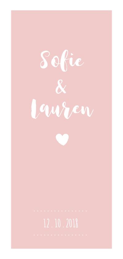 Geboortekaartjes - Roze rustig tweeling geboortekaartje