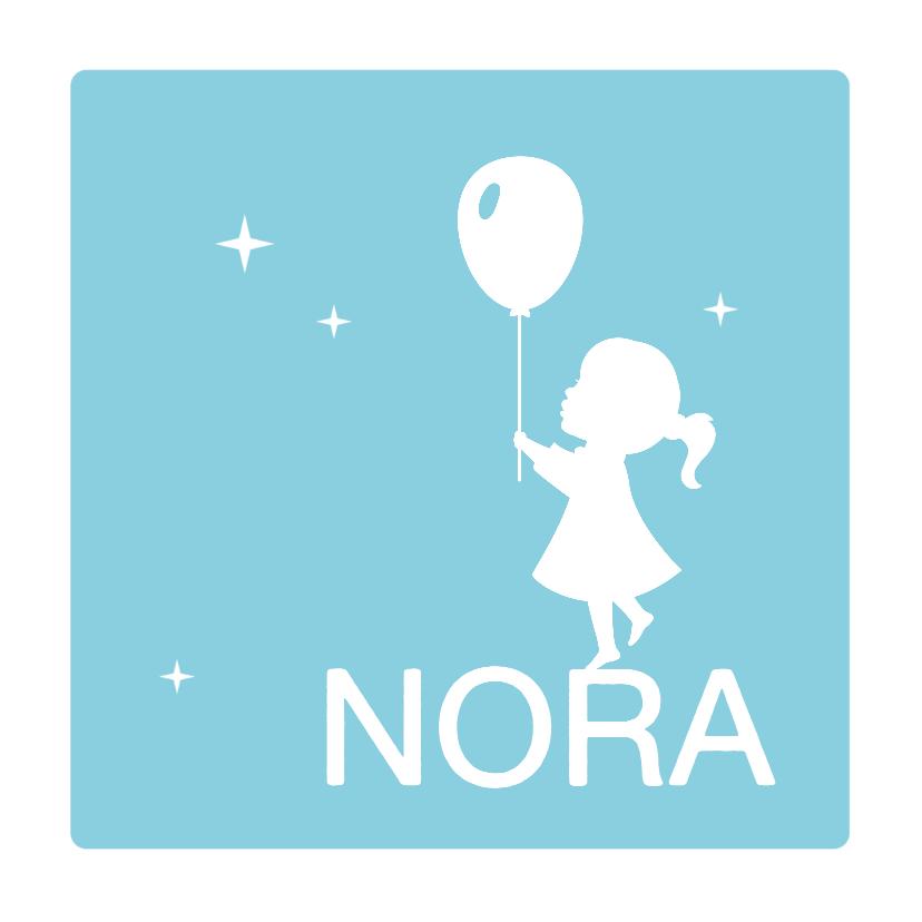 Geboortekaartjes - Silhouet geboortekaartje Ballon