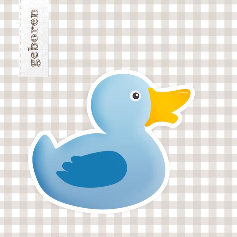 Geboortekaartjes - Spetter spetter spat blauw