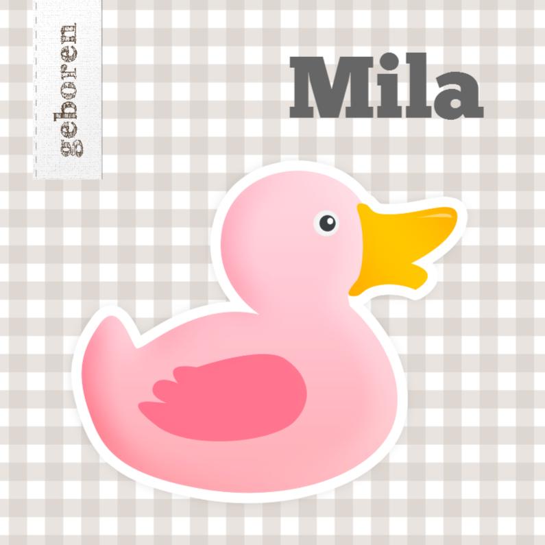 Geboortekaartjes - Spetter spetter spat roze