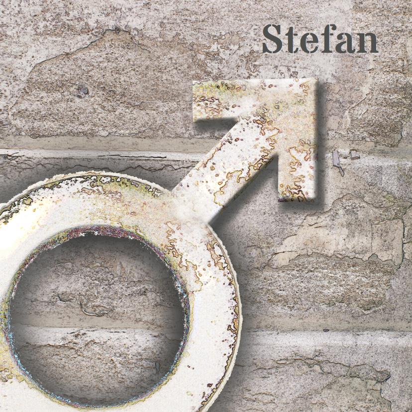 Geboortekaartjes - Stoer geboortekaartje Stefan