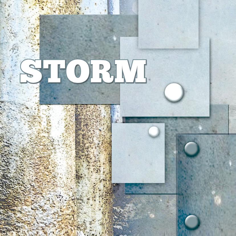 Geboortekaartjes - Stoer geboortekaartje Storm