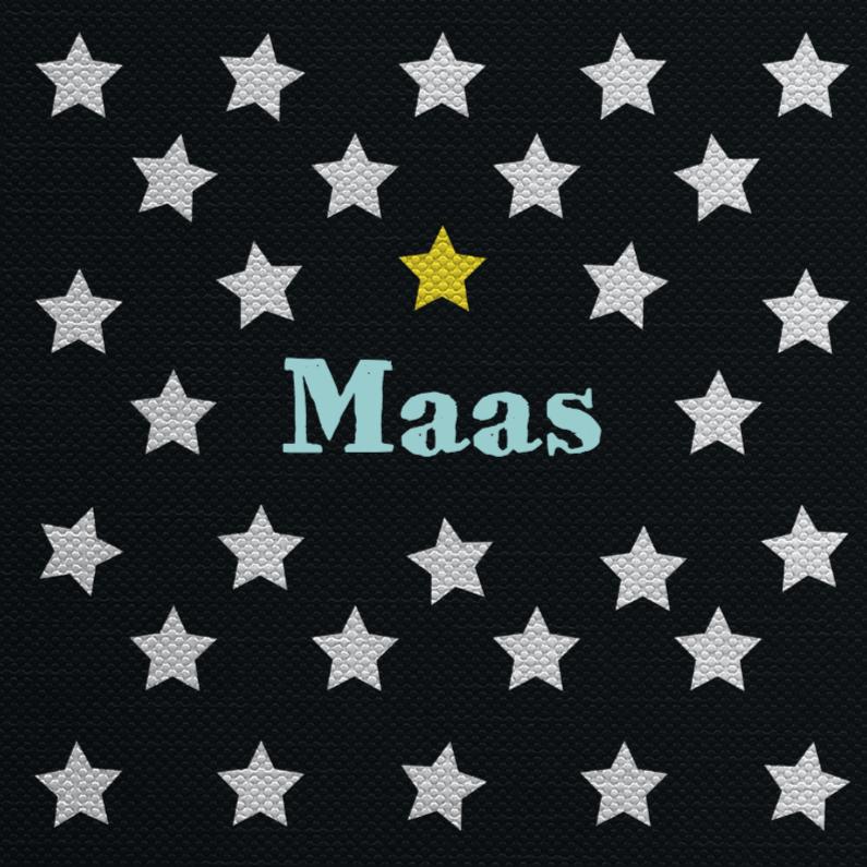 Geboortekaartjes - Stoere sterren geboortekaart