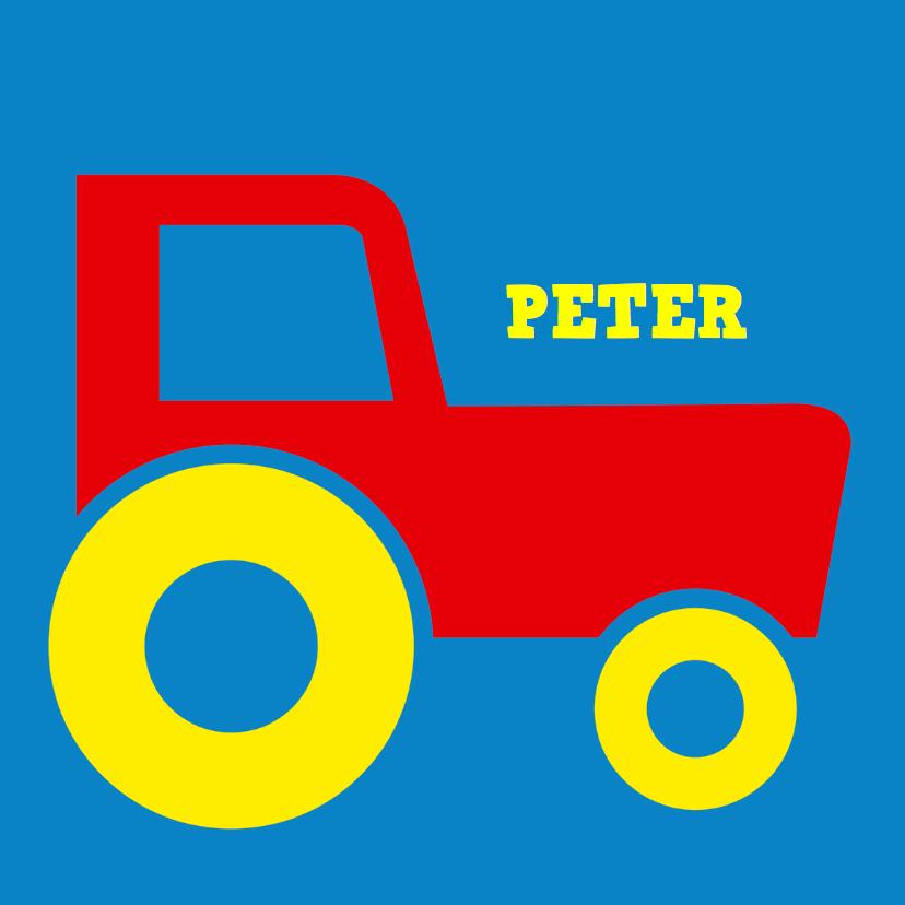 Geboortekaartjes - traktor