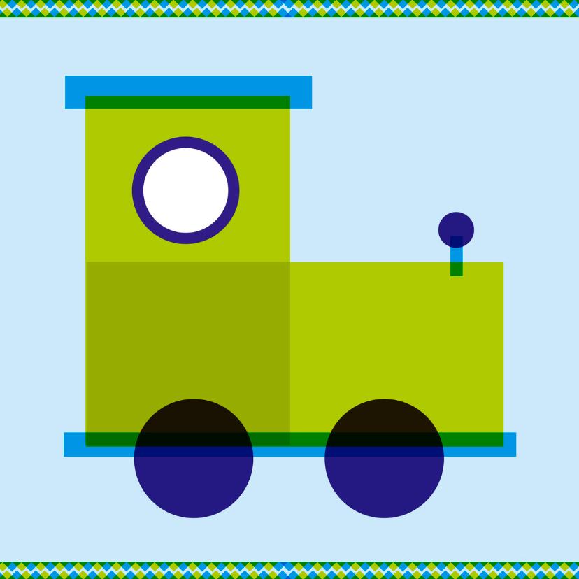Geboortekaartjes - treinkaartje
