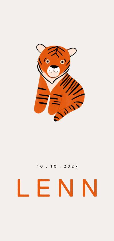 Geboortekaartjes - Trendy geboortekaartje jongen baby tijger