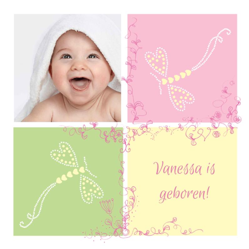 Geboortekaartjes - Vanessa is geboren!