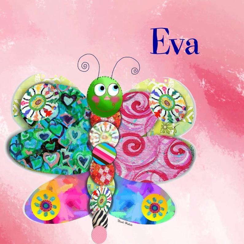 Geboortekaartjes - Vlinder Roze