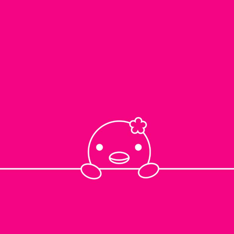 Geboortekaartjes - Vogeltje roze 1