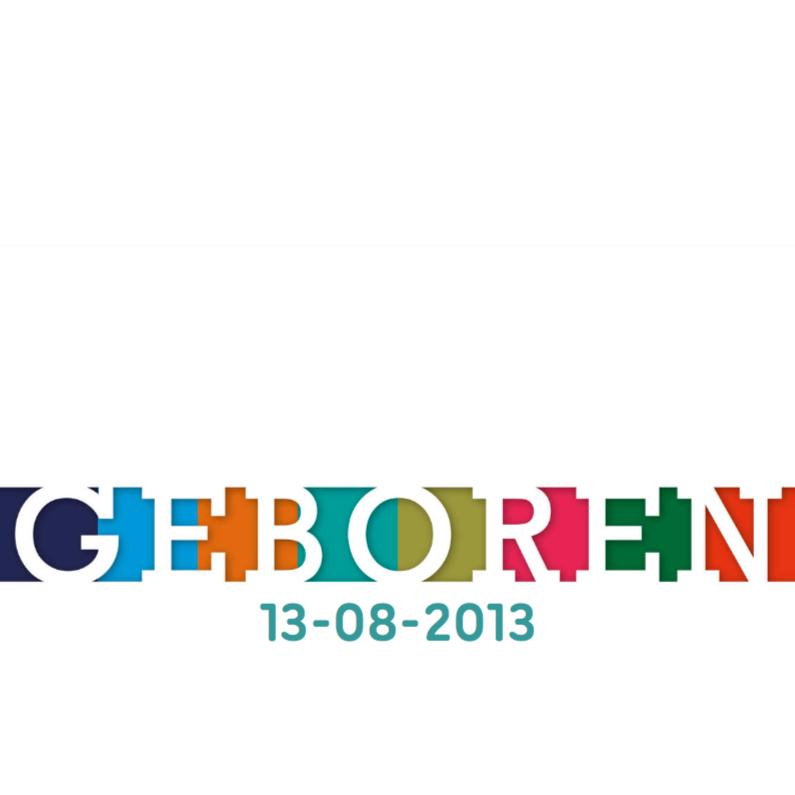 Geboortekaartjes - vrolijk geboortekaartje 42 kleuren strak