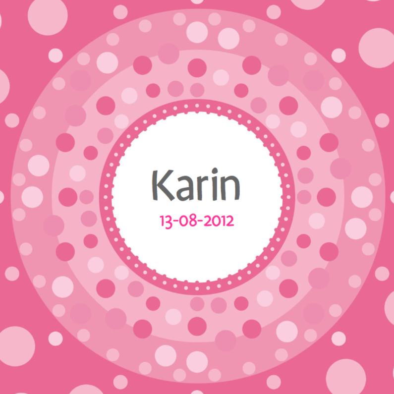 Geboortekaartjes - vrolijke geboortekaart 53 bolletjes