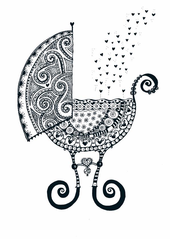 Geboortekaartjes - Wiegje vol liefde