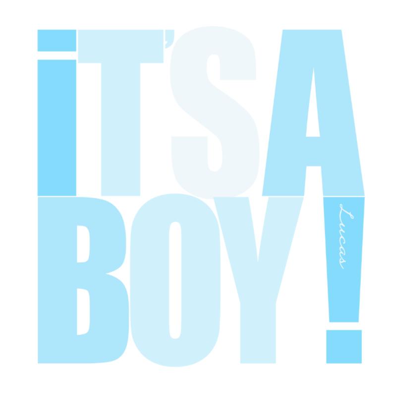 Geboortekaartjes - Woorden It's a Boy! Blauw - BK