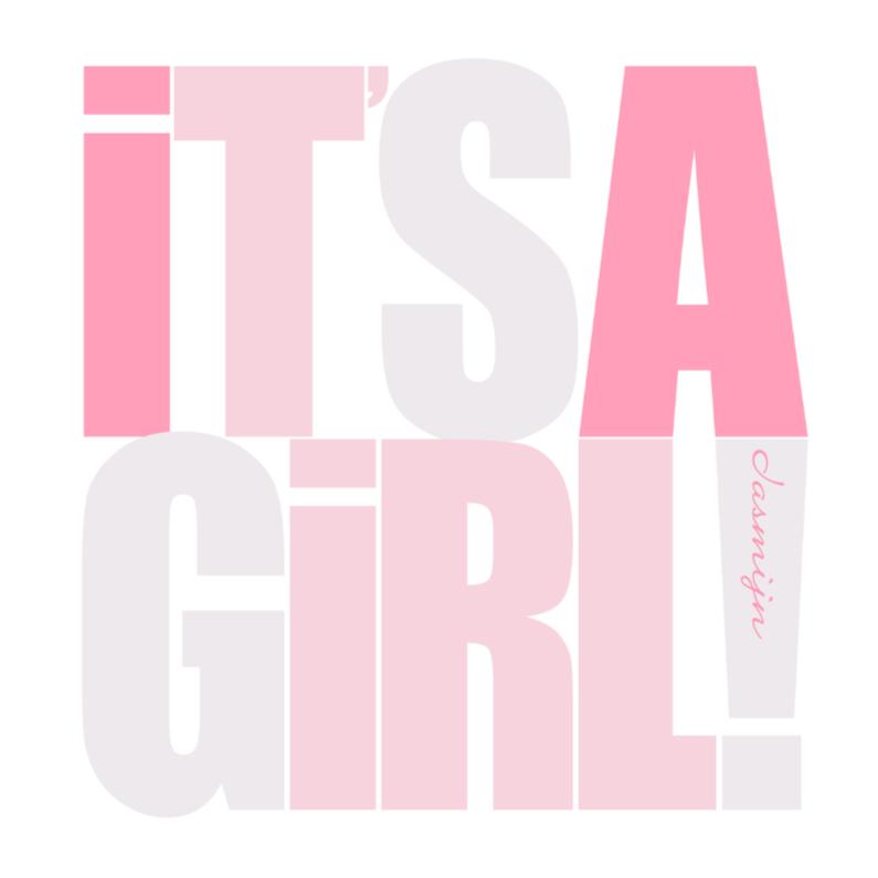 Geboortekaartjes - Woorden It's a Girl! Roze - BK