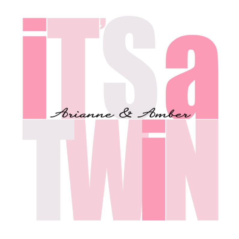 Geboortekaartjes - Woorden It's a Twin Meisjes - BK