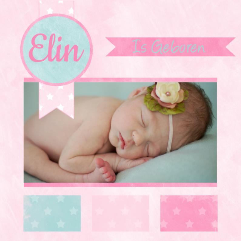 Geboortekaartjes - Zoet geboortekaartje krijtbord