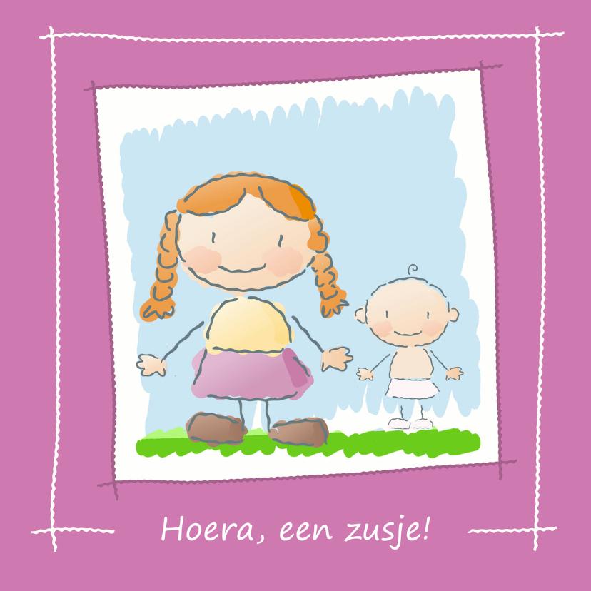 Geboortekaartjes - Zus krijg zusje