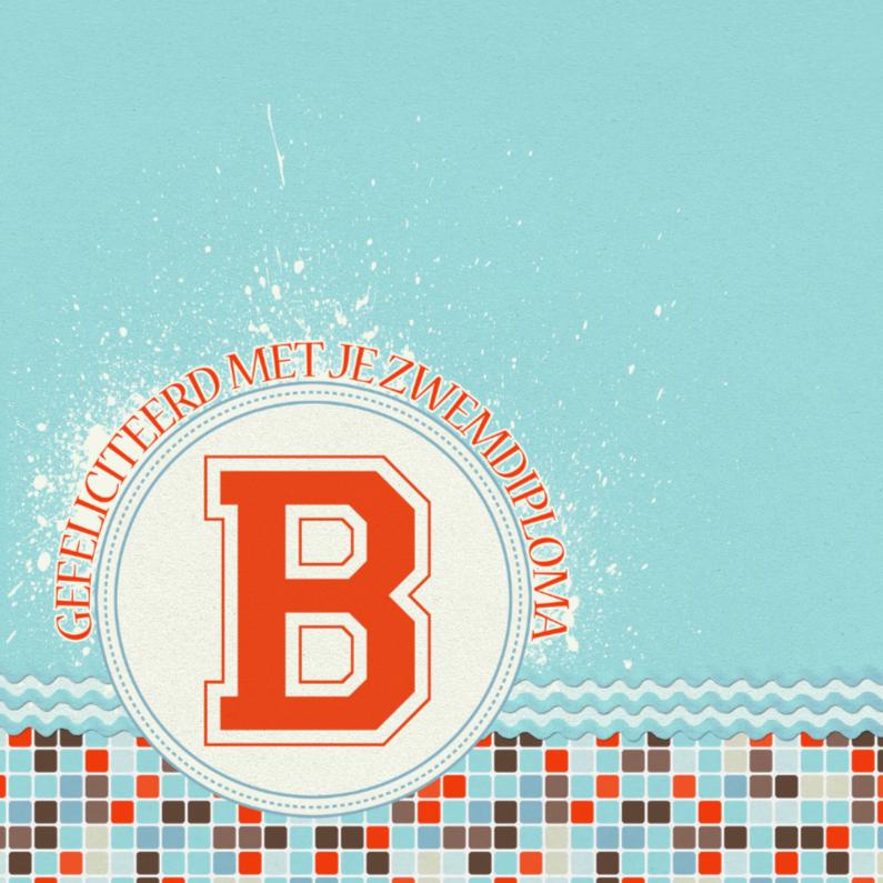 Geslaagd kaarten - 12020 Geslaagd kaart Zwemdiploma B