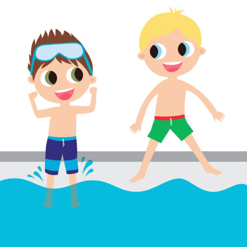 Geslaagd kaarten - Alies Design zwemfeest