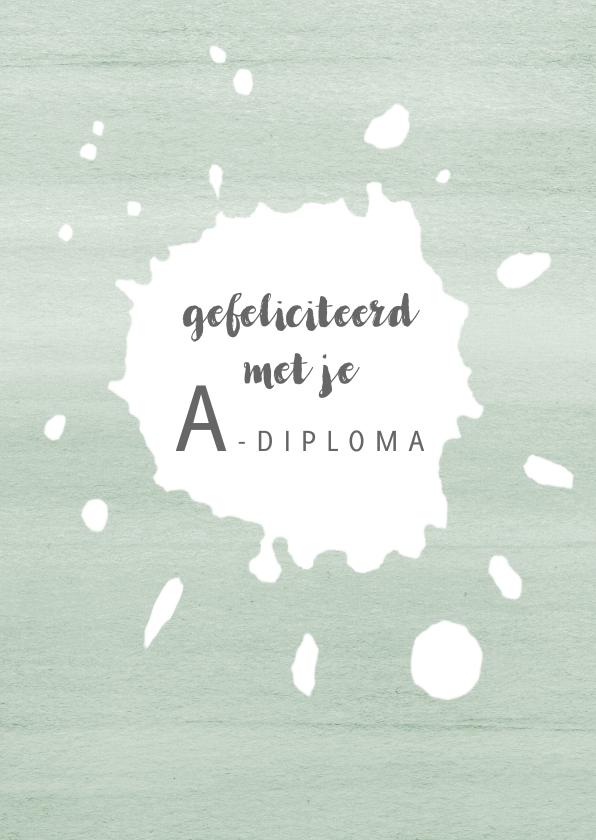 Geslaagd kaarten - Felicitatie zwemdiploma spetter, aanpasbare tekst
