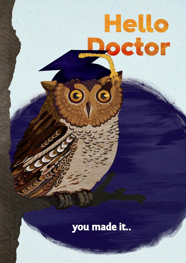 Geslaagd kaarten - Gefeliciteerd met je PhD/promotie!