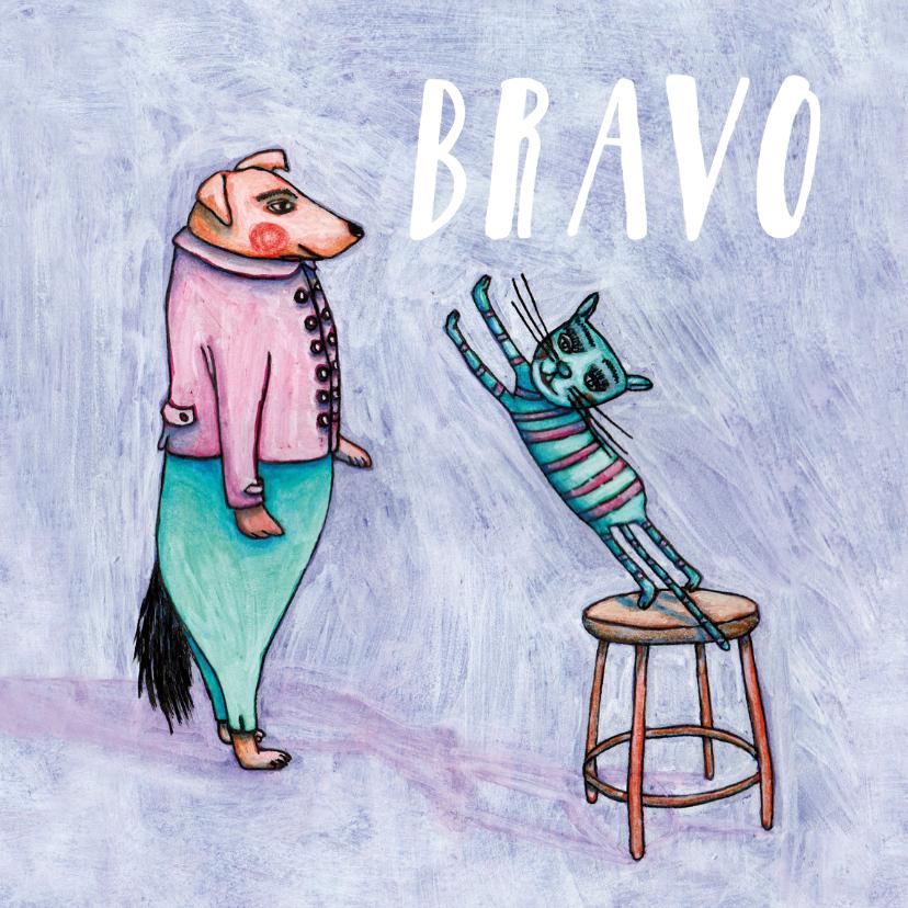 Geslaagd kaarten - Geslaagd Bravo, goed gedaan!