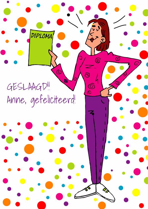 Geslaagd kaarten - Geslaagd felicitatie meisje