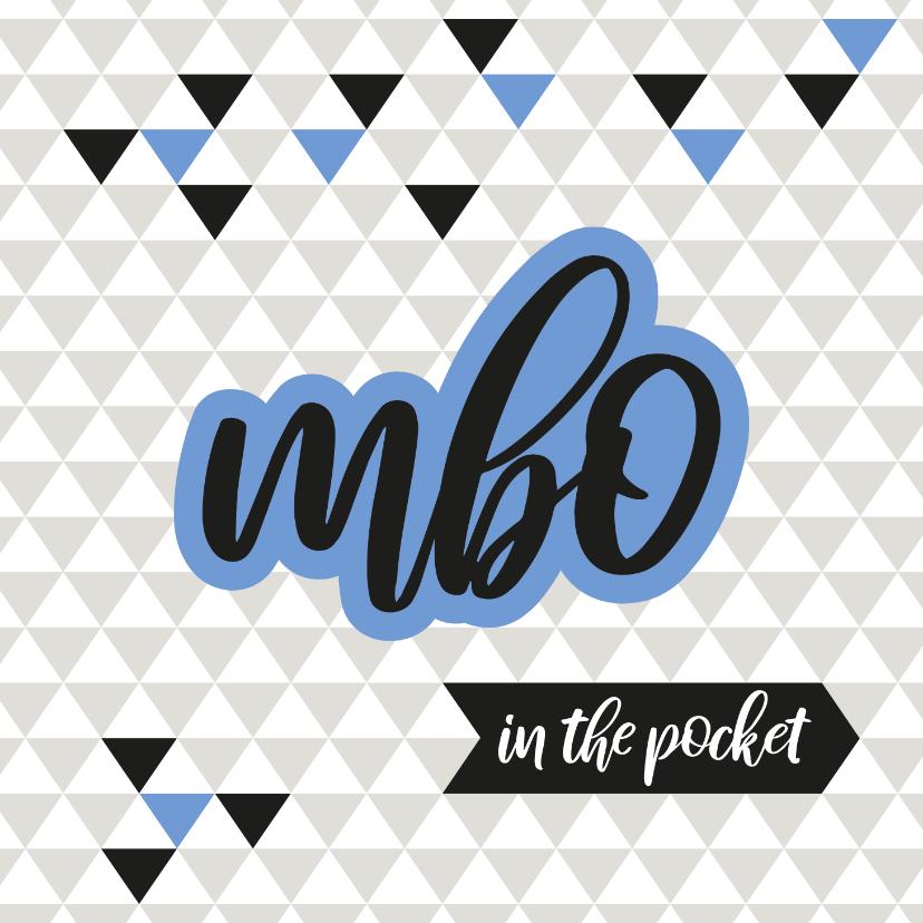 Geslaagd kaarten - Geslaagd geometrisch mbo in the pocket